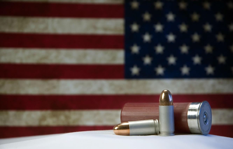 Photo wallpaper Gun, Bullets, Weapon, Ammunition