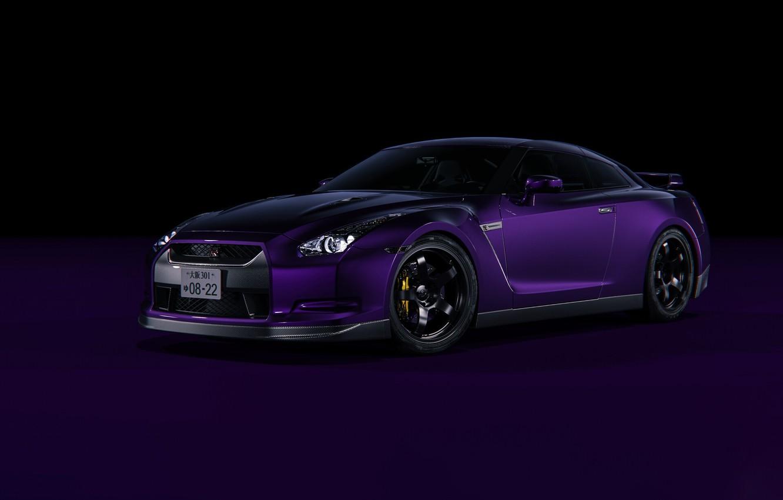 Photo wallpaper Auto, Machine, Purple, Nissan GTR, Transport & Vehicles, Ryan Giffary, by Ryan Giffary, 2008 Nissan …