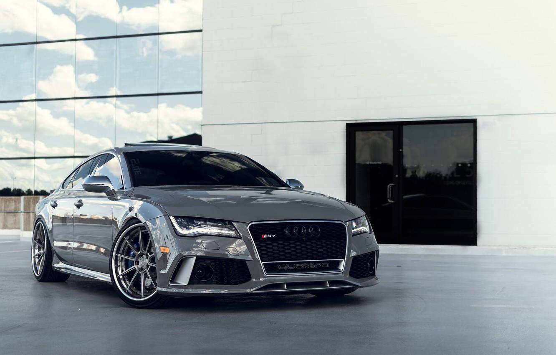 Photo wallpaper Audi, Quattro, Silver, VAG, RS7, Sight