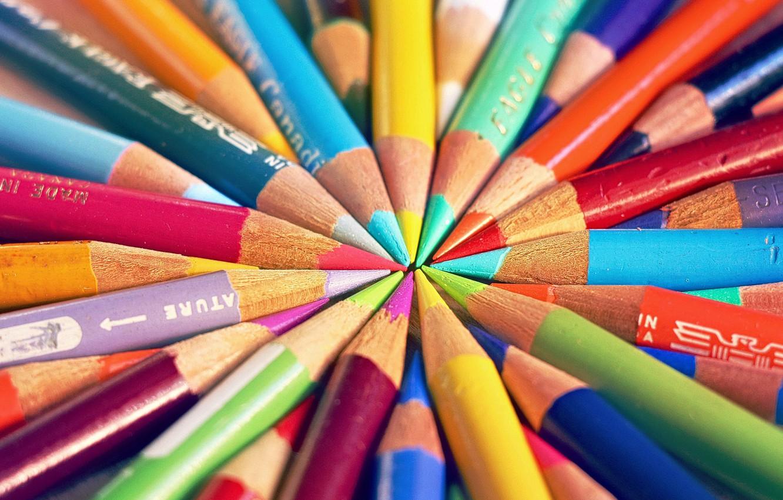 Photo wallpaper background, color, pencils