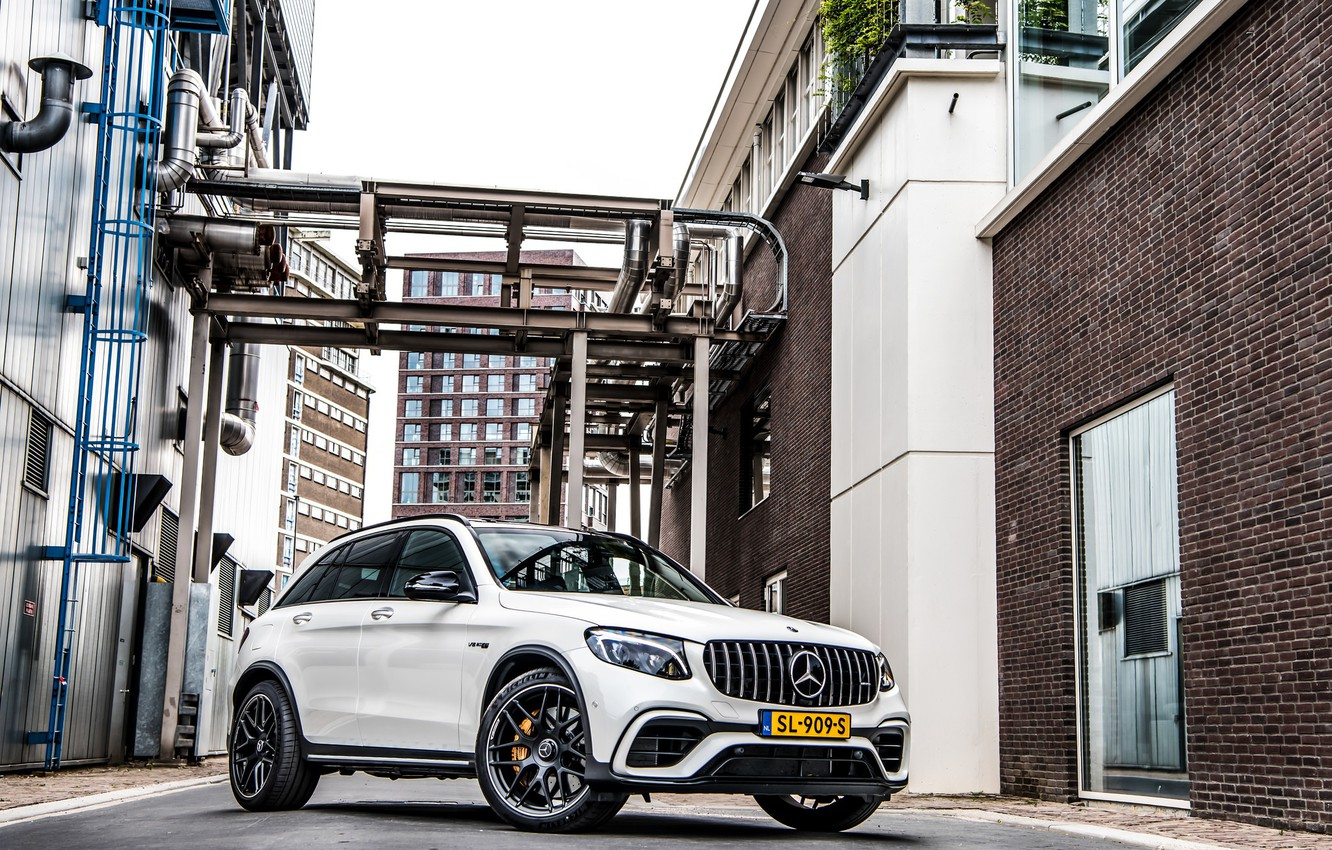 Photo wallpaper Mercedes, AMG, White, GLC63