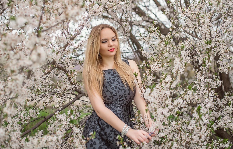 Photo wallpaper dress, blonde, pose, A Diakov George