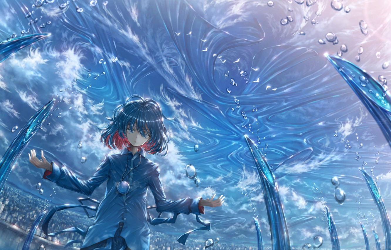 Photo wallpaper water, drops, magic, boy, medallion, arena