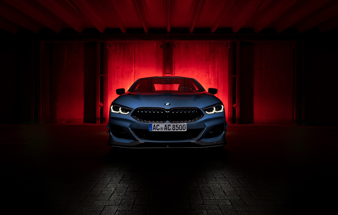 Photo wallpaper Background, front view, luxury cars, bmw i8 ac schnitzer acs8