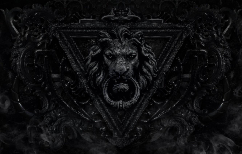 Wallpaper Black Lion Door Images For Desktop Section Minimalizm Download