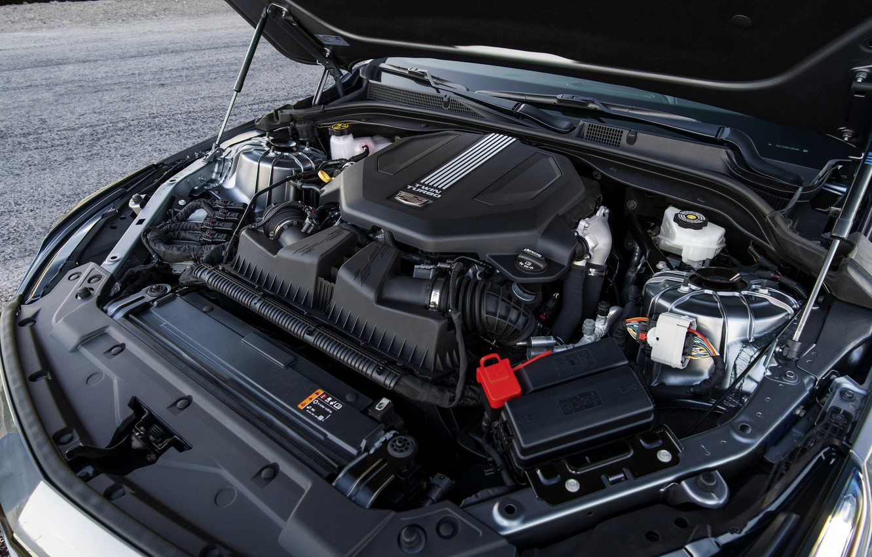 Photo wallpaper grey, engine, Cadillac, sedan, four-door, 2020, CT5