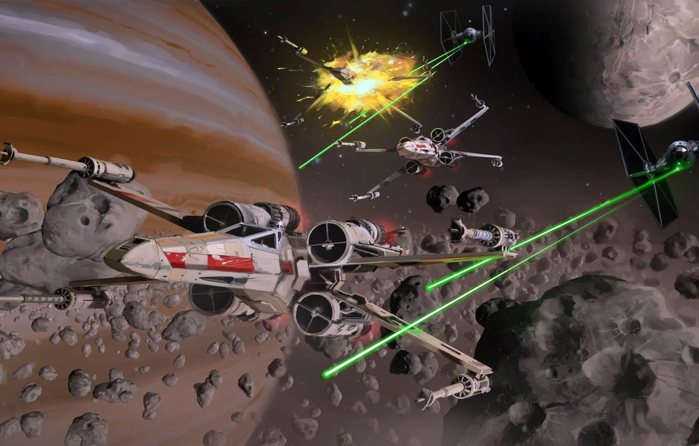 Wallpaper Star Wars Starwars Fan Art Miguel Iglesias Asteroids Ambush Images For Desktop Section Fantastika Download