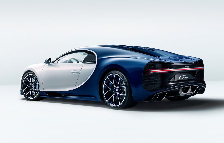 Photo wallpaper bugatti, white, wheels, blue, background, ligth, chiron