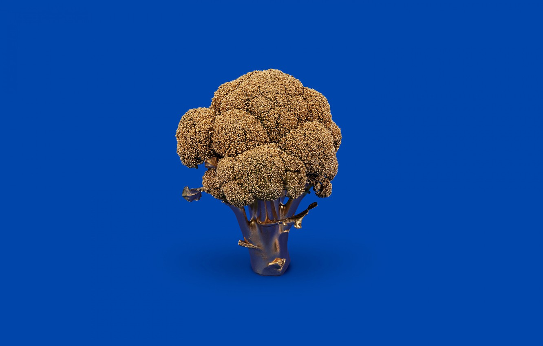 Photo wallpaper the volume, vegetables, Golden broccoli