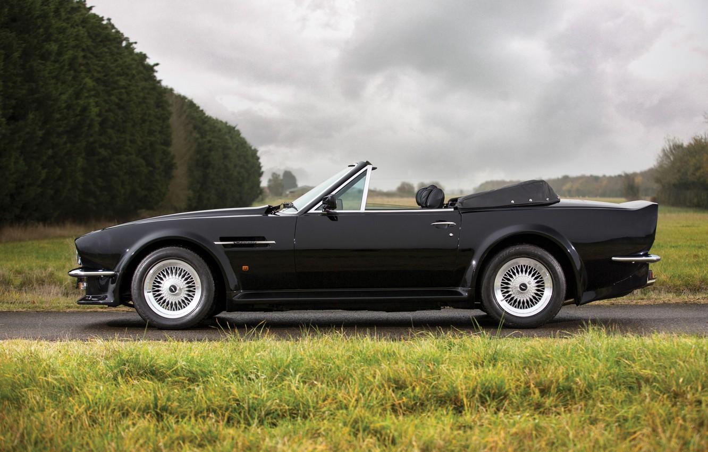 Photo wallpaper Black, Side view, Aston Martin V8 Vantage Volante