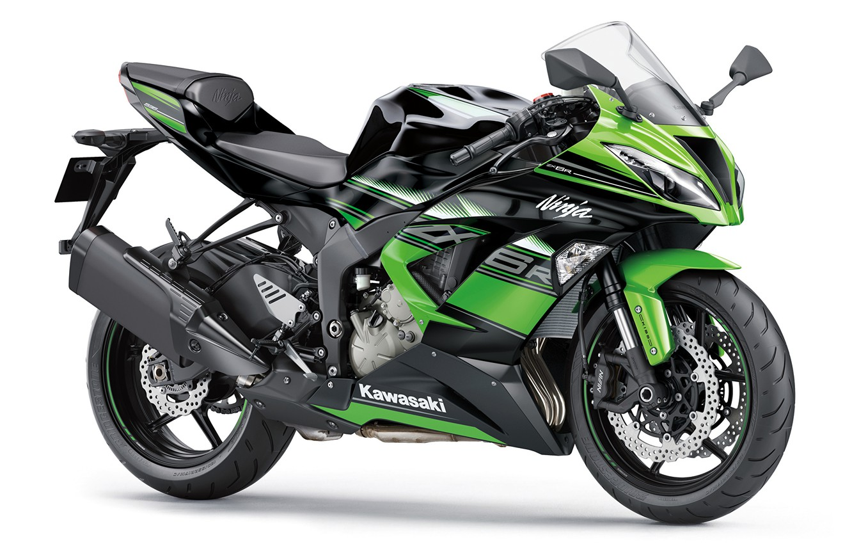Photo wallpaper green, motorcycle, bike, motorcycle, superbike, sportbike, white background, Kawasaki Ninja ZX-6