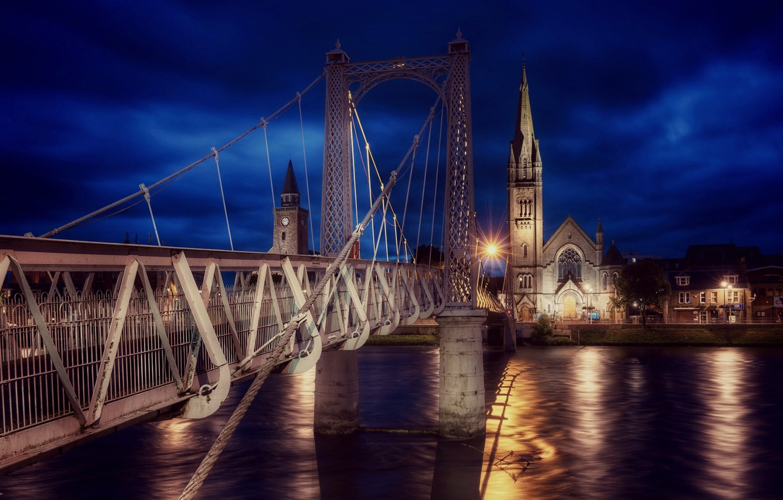 Photo wallpaper Scotland, Inverness, Greig Street Bridge