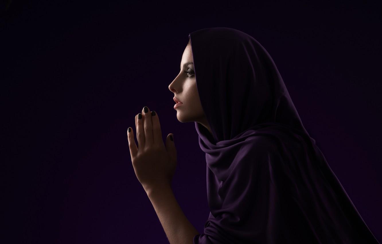 Photo wallpaper girl, plea, prayer
