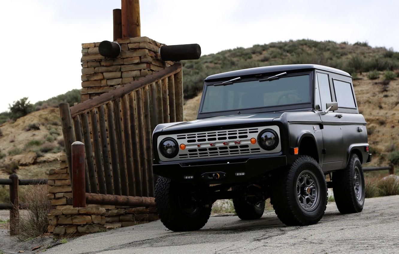 Photo wallpaper black, Ford, 2012, Bronco, ICON BR