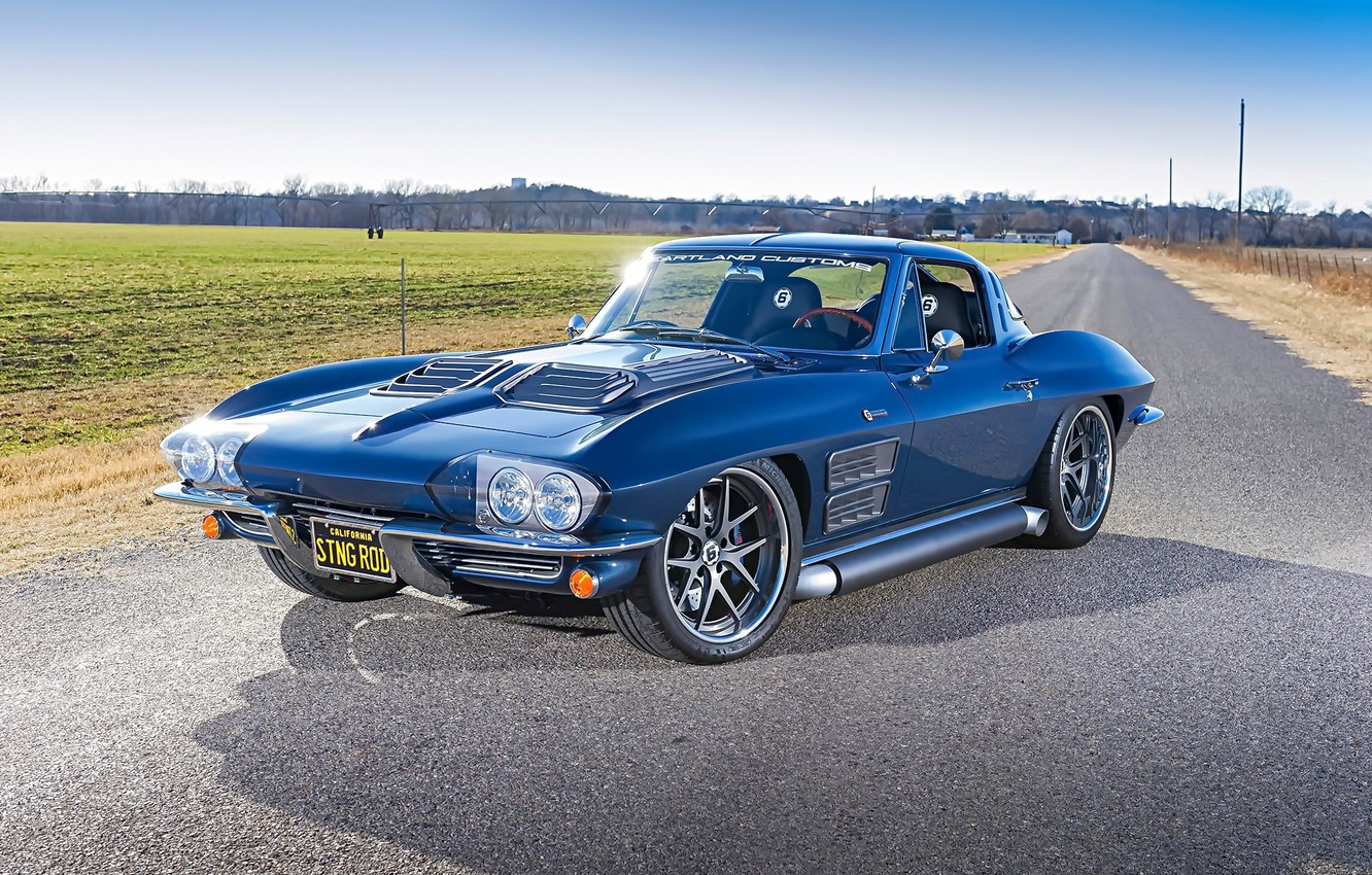 Photo wallpaper Corvette, Chevrolet, Stingray, 1963, Wheels, Forgeline, VX3C