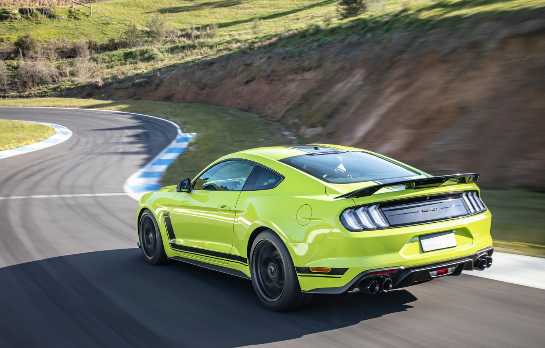 Photo wallpaper speed, Mustang, Ford, racing track, AU-spec, R-Spec, 2019, Australia version