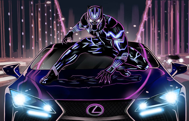 Wallpaper Lexus Neon Artwork Black Panther Images For Desktop