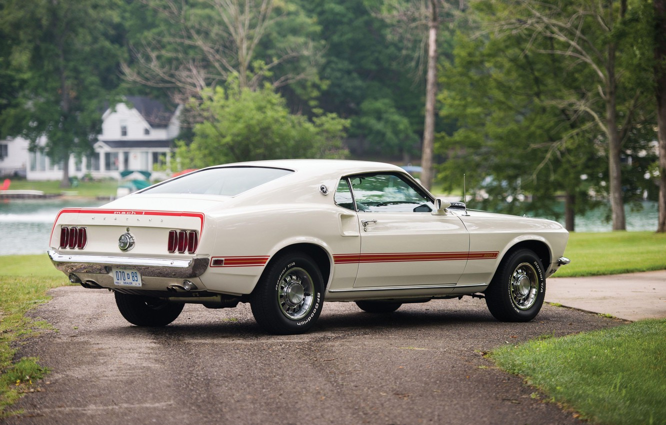 Photo wallpaper 1969, Ford Mustang, Classic, Muscle car, 428 Cobra Jet, Mach I