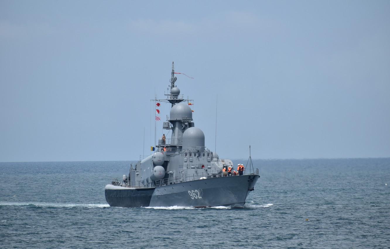Photo wallpaper boat, rocket, The black sea, Shuya