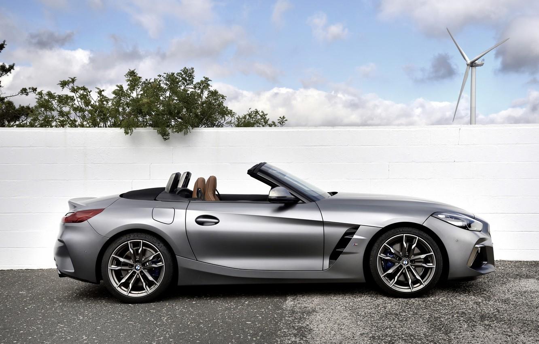 Photo wallpaper grey, wall, windmill, BMW, profile, Roadster, BMW Z4, M40i, Z4, 2019, G29