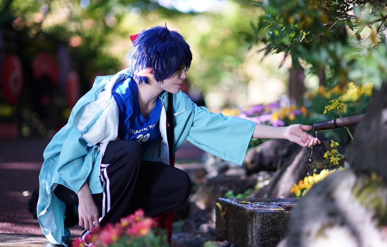 Wallpaper Cosplay Rin Okumura Blue Exorcist Ao No