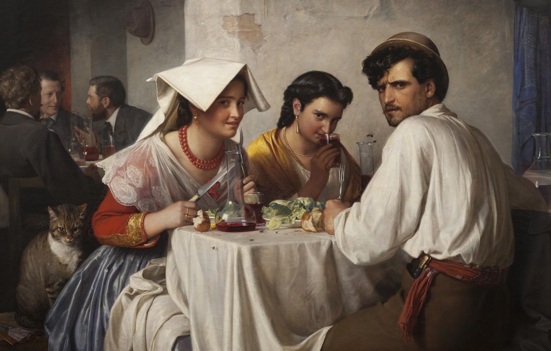 Photo wallpaper 1866, Danish painter, Copenhagen, Danish realist painter, Statens Museum for Kunst Copenhagen, National Gallery of …