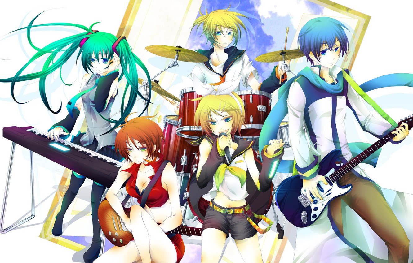 Photo wallpaper Vocaloid, Vocaloid, characters