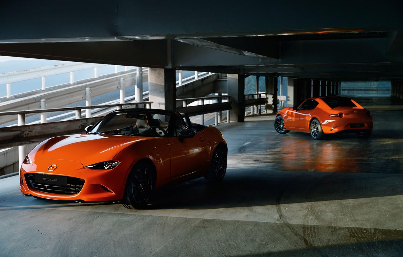 Photo wallpaper machine, Mazda, Parking, MX-5, 30th Anniversary Edition, 2020, MX-5 RF