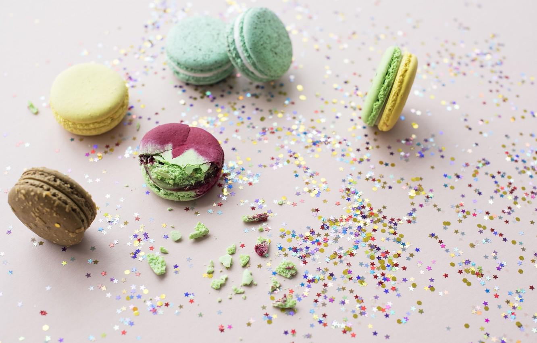 Photo wallpaper cookies, dessert, decoration, almond, Macaroon