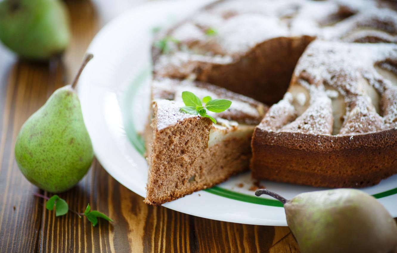 Photo wallpaper pie, pear, mint, cakes