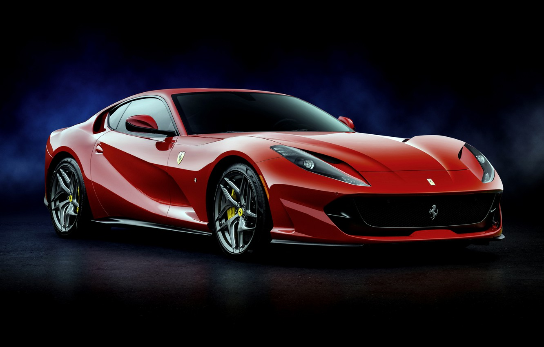 Photo wallpaper red, Ferrari, Superfast, 812