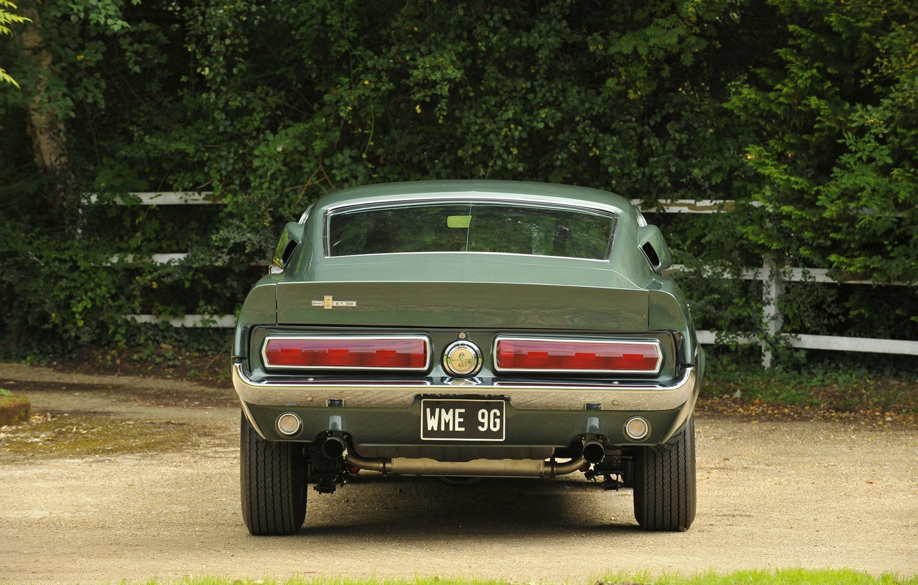 Photo wallpaper Ford Mustang, 1967, Muscle Car, Rear view, Shelby GT350