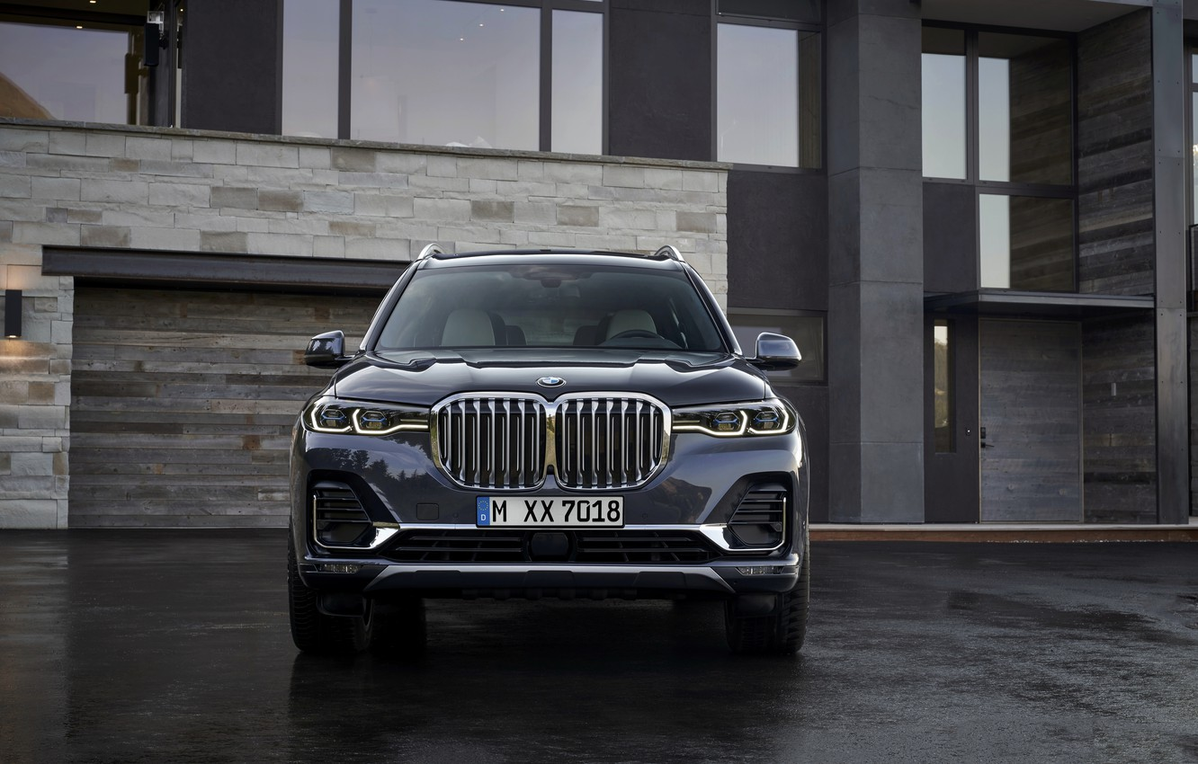 Photo wallpaper BMW, 2018, crossover, SUV, 2019, BMW X7, X7, G07, house wall