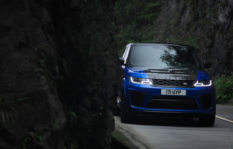 Photo wallpaper rock, Land Rover, Range Rover, Range Rover Sport, 2018, SVR, V8, 575 HP, 5.0 L., …