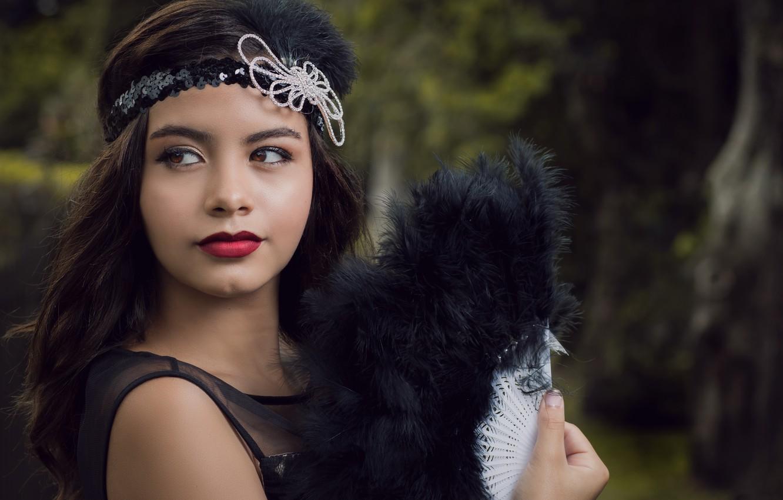 Photo wallpaper girl, style, retro, fan, Camila
