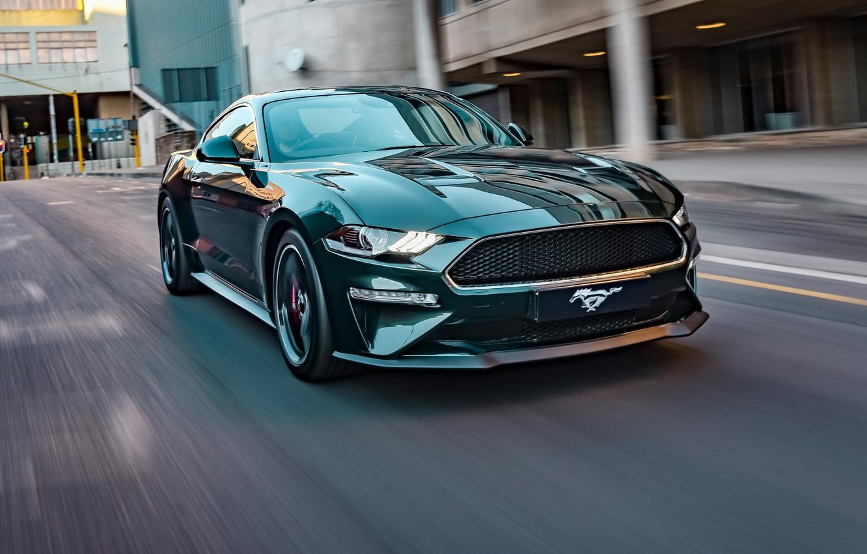 Photo wallpaper speed, Mustang, Ford, Bullitt, 2019