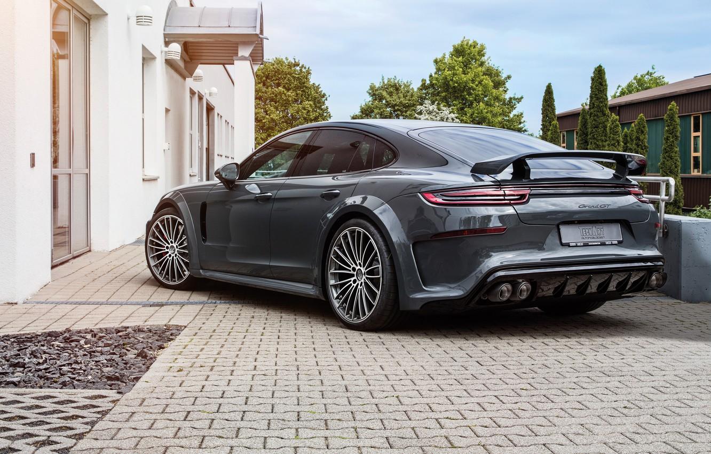 Photo wallpaper Porsche, Panamera, 2018, TechArt, Grand GT