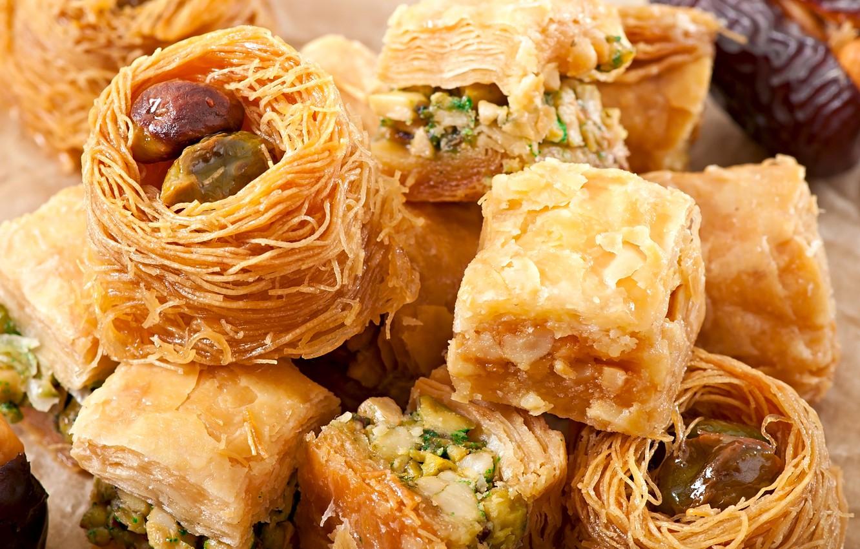 Photo wallpaper sweets, East, baklava