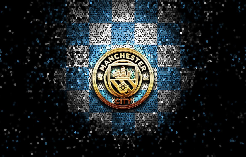 Wallpaper Wallpaper Sport Logo Football Manchester City Glitter Checkered Images For Desktop Section Sport Download