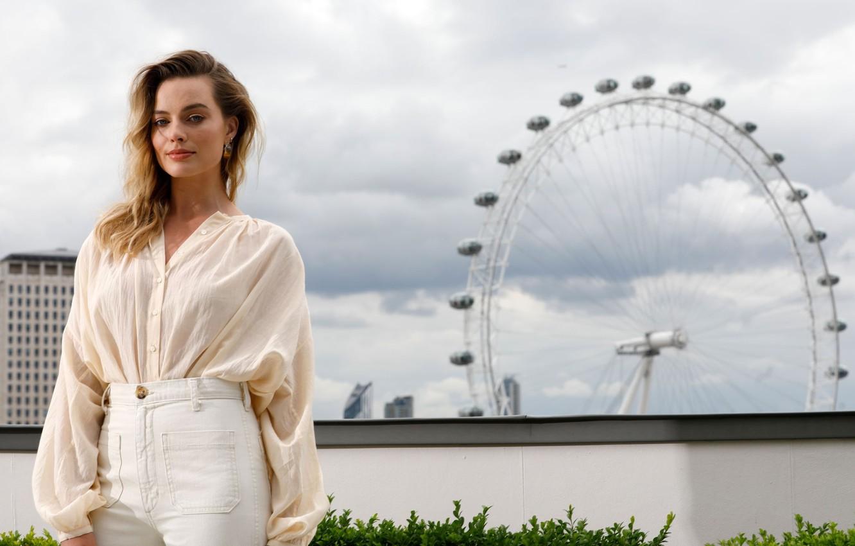 Photo wallpaper actress, Ferris wheel, Margot Robbie