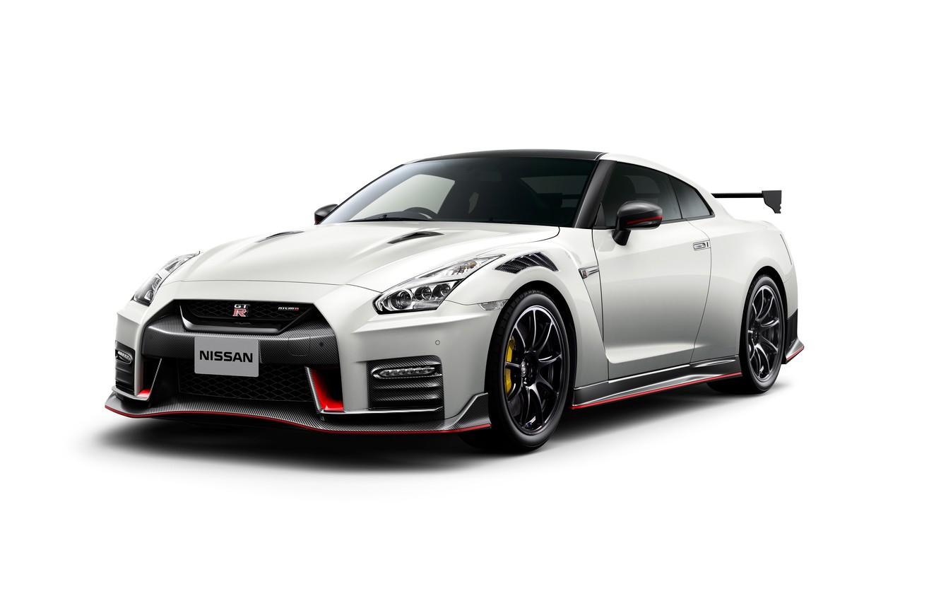 Photo wallpaper white background, Nissan, GT-R, R35, Nismo