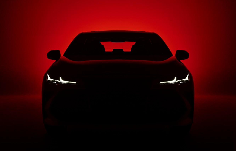 Photo wallpaper light, darkness, background, silhouette, Toyota, 2018, Avalon, Touring