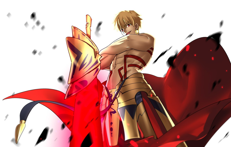 Photo wallpaper anime, art, guy, Fate/Stay Night, Gilgamesh, Archer, Fate stay Night