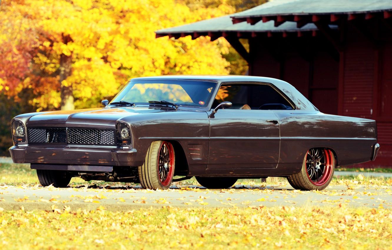 Photo wallpaper Chevrolet, Coupe, Side, Nova, Tuning