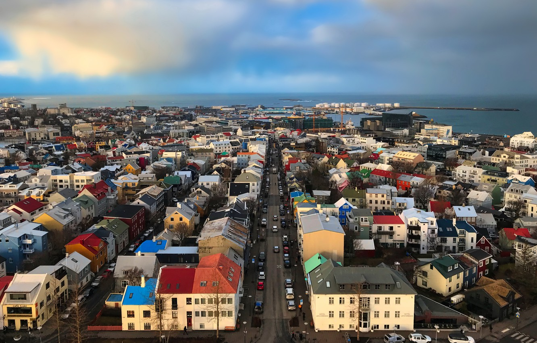Photo wallpaper Iceland, Reykjavik, cityscape