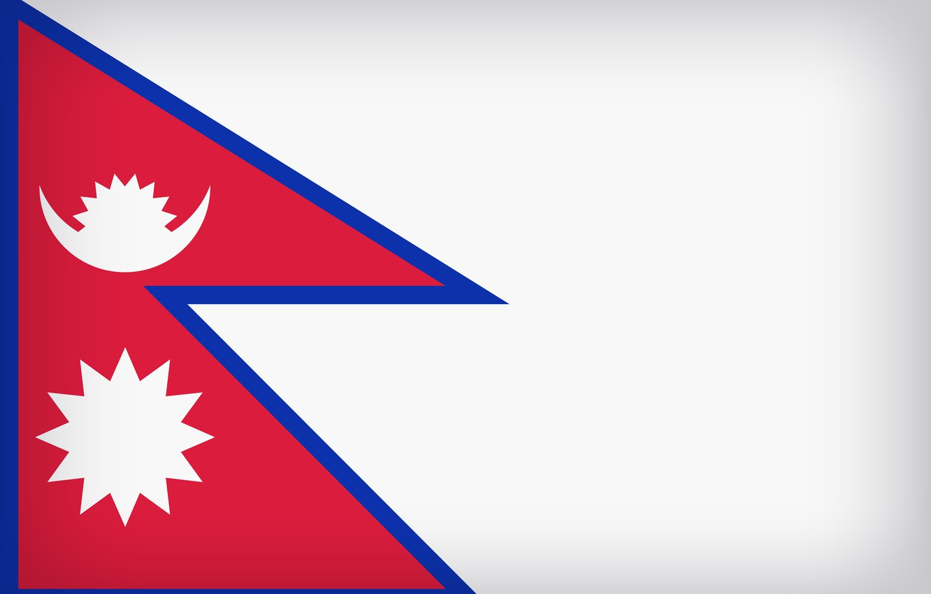 Photo wallpaper Flag, Nepal, National Symbol, Flag Of Nepal, Nepal Large Flag
