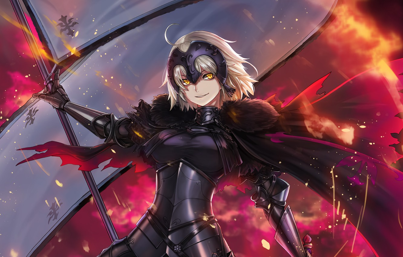 Photo wallpaper girl, flag, Fate / Grand Order, The destiny of a great campaign