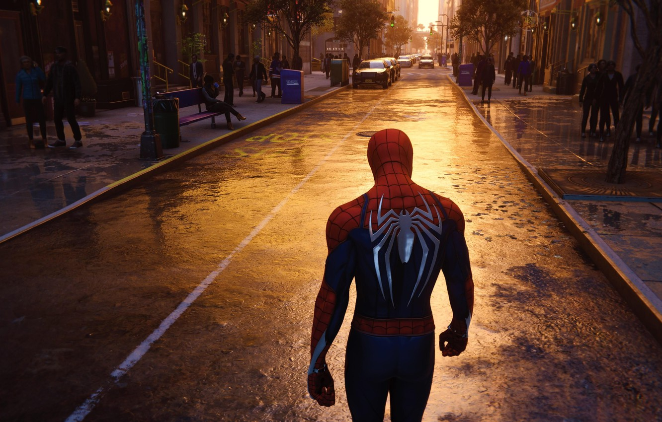 Photo wallpaper New York, 2018, Game, Spider Man, PS4