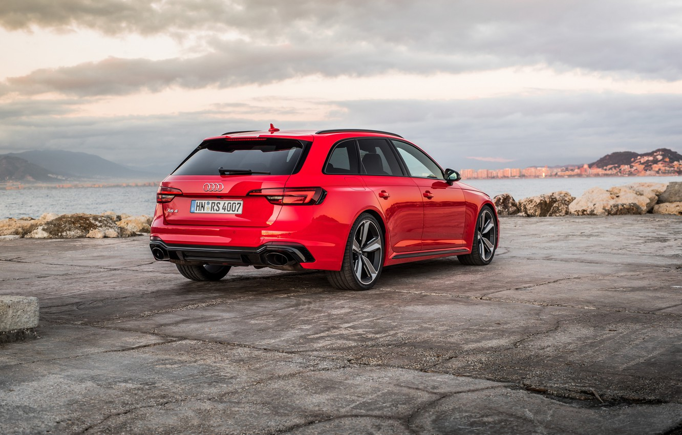 Photo wallpaper Audi, rear view, 2018, universal, RS4, Before