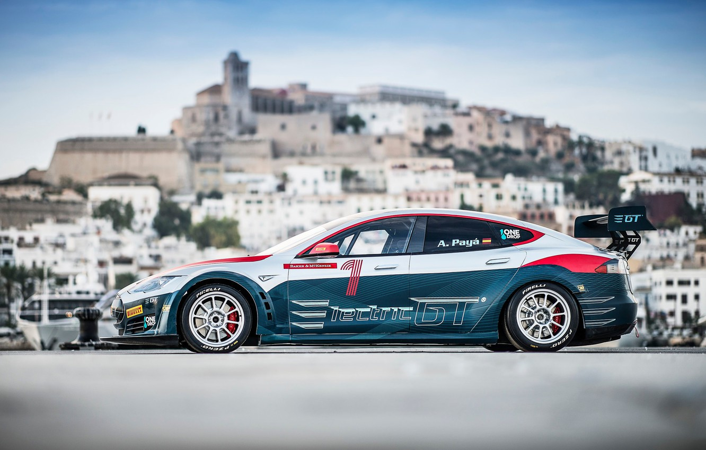 Photo wallpaper Wheel, Drives, Tesla, Tesla Model S, Electric, Electric GT